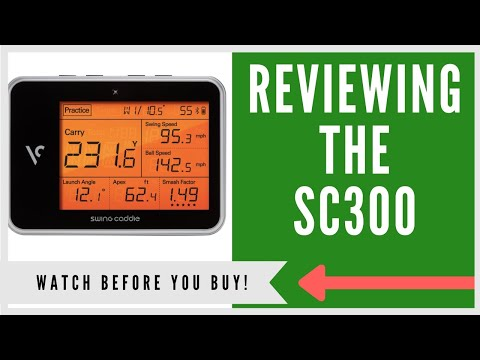 ✅ SWING CADDIE SC300 GOLF LAUNCH MONITOR REVIEW