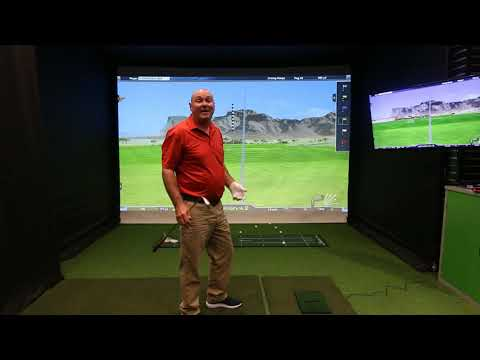 Introduction and demo of the Optishot 2 golf simulator.