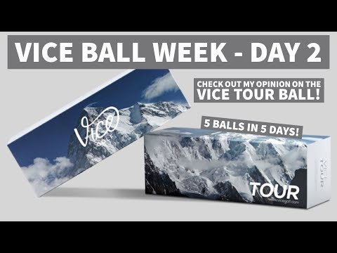 Vice Golf Week - 5 Balls in 5 Days - Day 2, VICE TOUR GOLF BALL